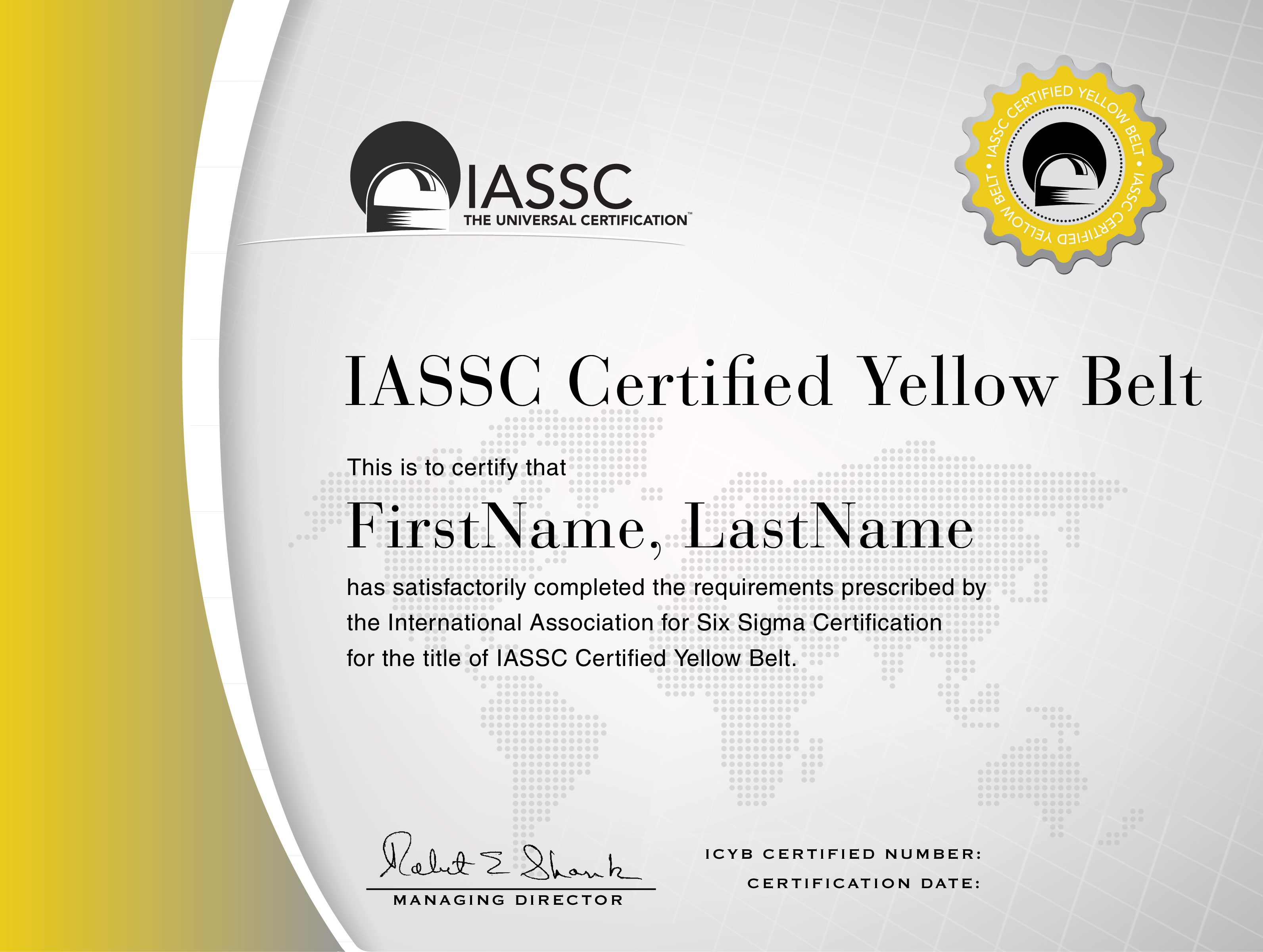 Icyb iassc certified lean six sigma yellow belt starter yellow belt certification certified lean six sigma 1betcityfo Image collections
